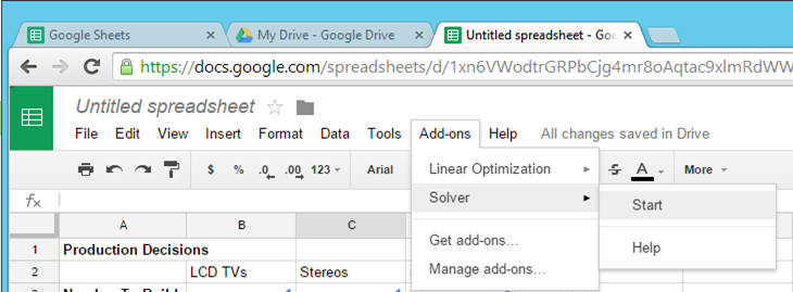 Optimization In Google Sheets