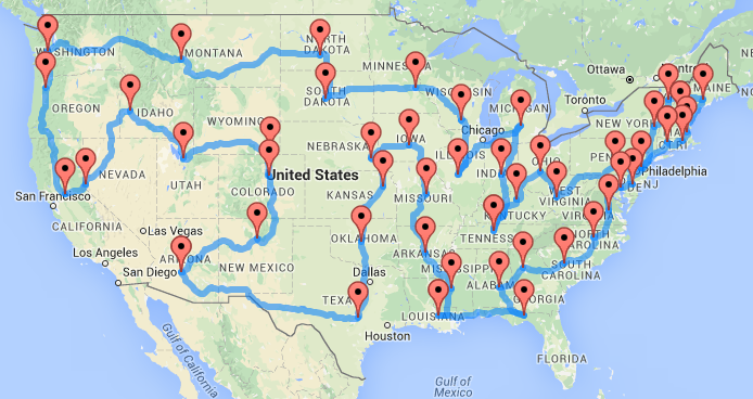 Computing Optimal Road Trips Using Operations Research Nathan - Tour of the states
